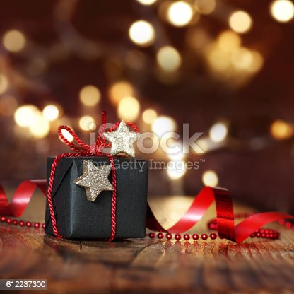 istock Very beautiful Christmas package 612237300