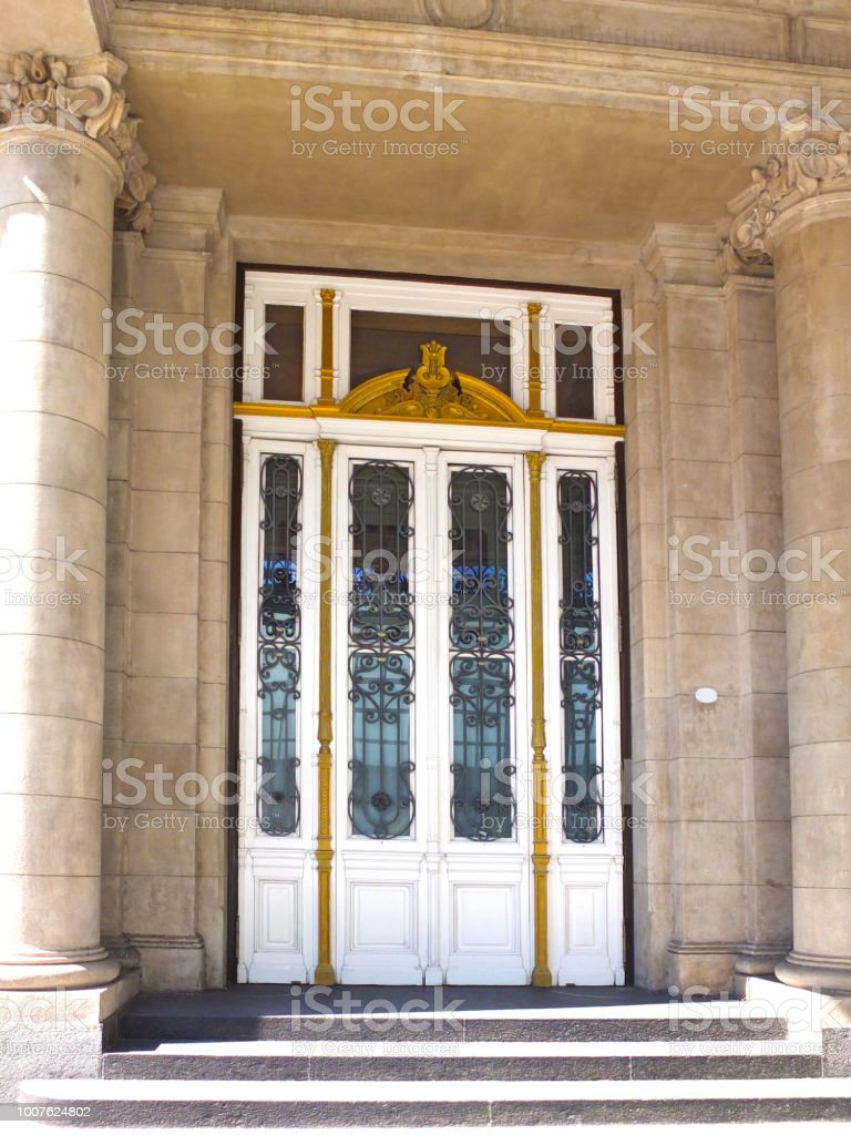 Very Beautiful Door Of The Main Entrance Of The Administrative
