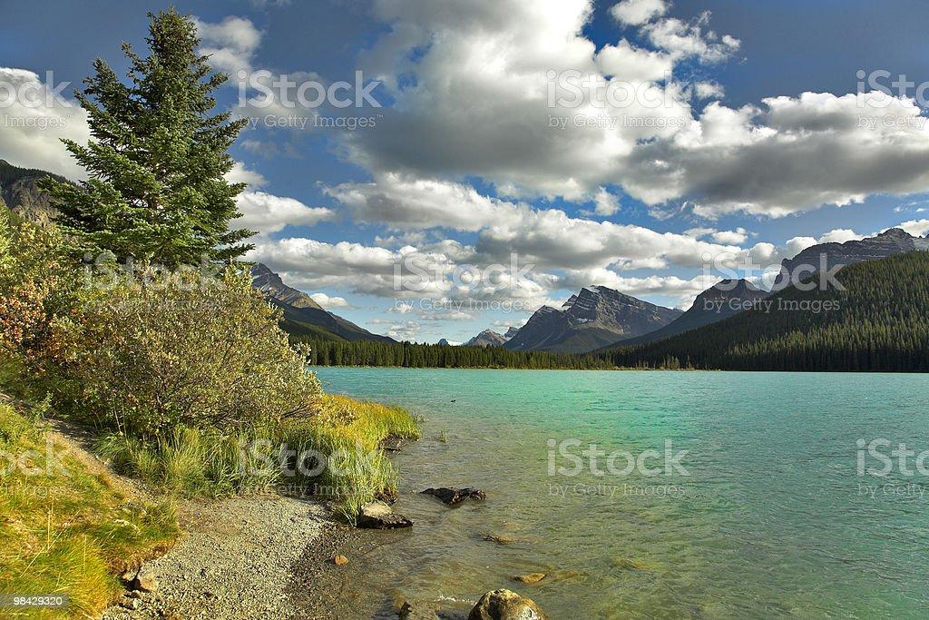 Splendido lago. foto stock royalty-free