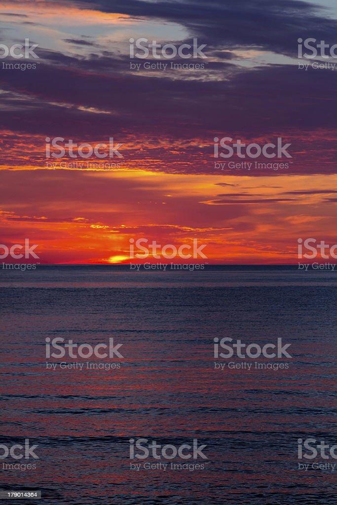 Very beautiful sunset royalty-free stock photo