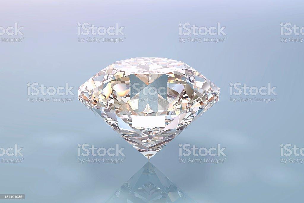 A very big clear polish diamond royalty-free stock photo