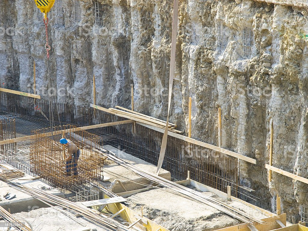 Very big construction pit stock photo