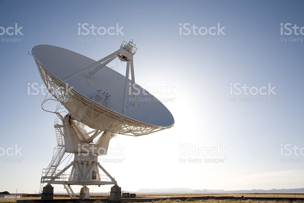 Very big ground satellite pointing towards the sky royalty-free stock photo