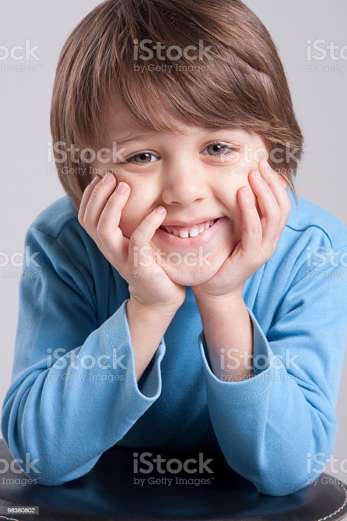 오탐지가 귀여운 남자아이 royalty-free 스톡 사진