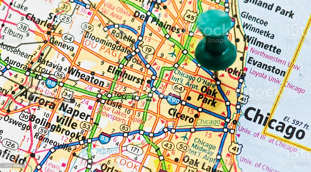A very detailed map of illinois zoomed in on chicago stock photo a very detailed map of illinois zoomed in on chicago royalty free stock photo gumiabroncs Gallery