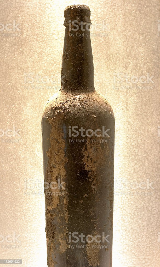 Very Expensive Bottle of Aged  wine royalty-free stock photo