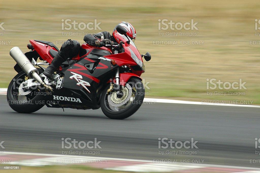 Very fast bike stock photo