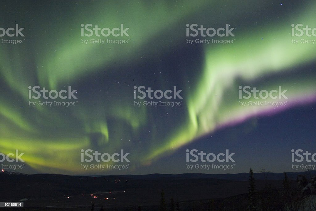 Very fast moving arc of aurora royalty-free stock photo