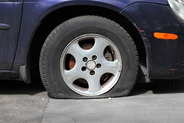 Royalty free flat tire pictures images and stock photos for Pila pneus