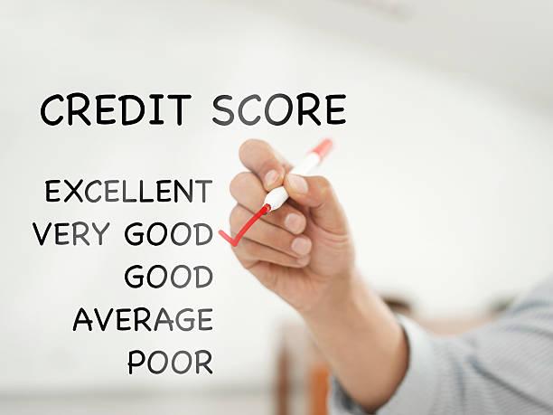very good credit score - bankhaken stock-fotos und bilder