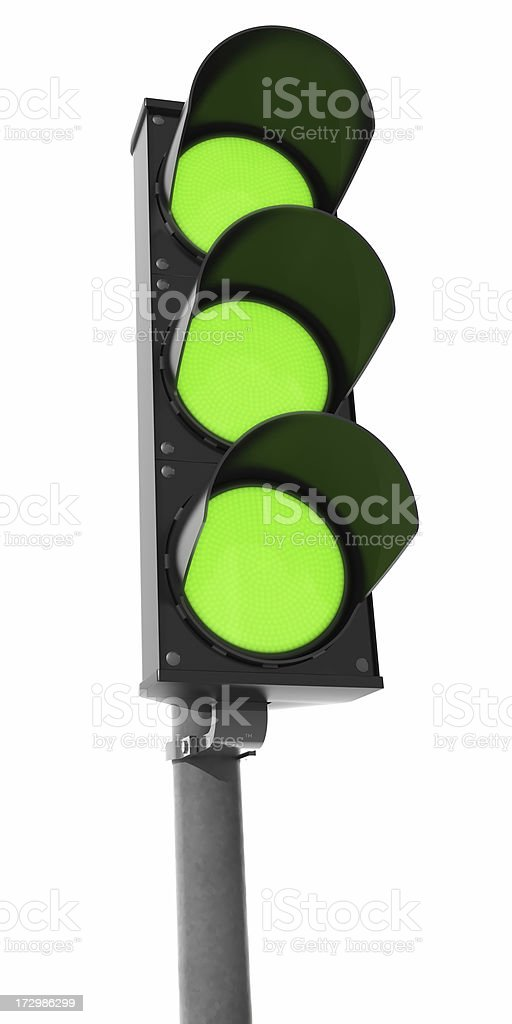 Very Green Traffic Light royalty-free stock photo