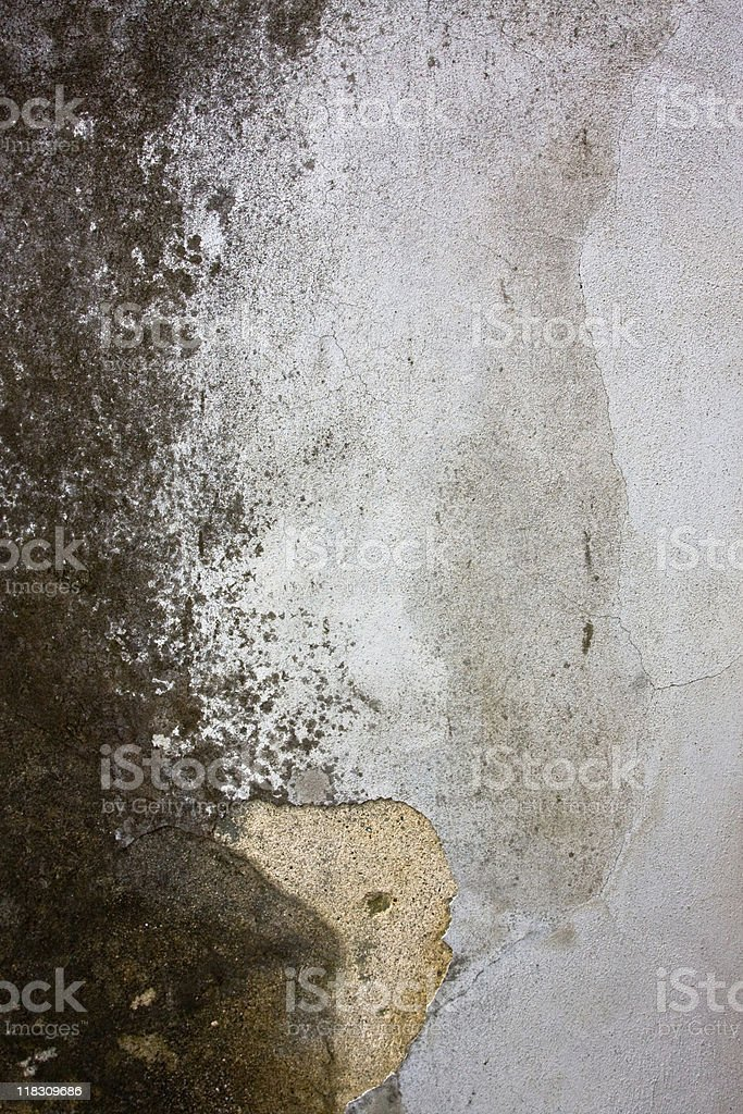 Very grungy cement wall royalty-free stock photo
