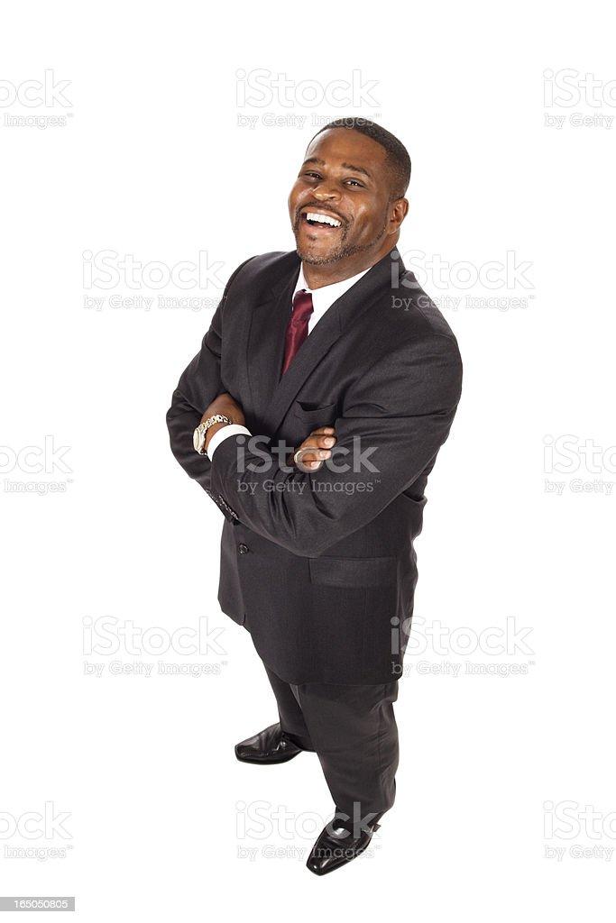 very happy businessman  XXL royalty-free stock photo