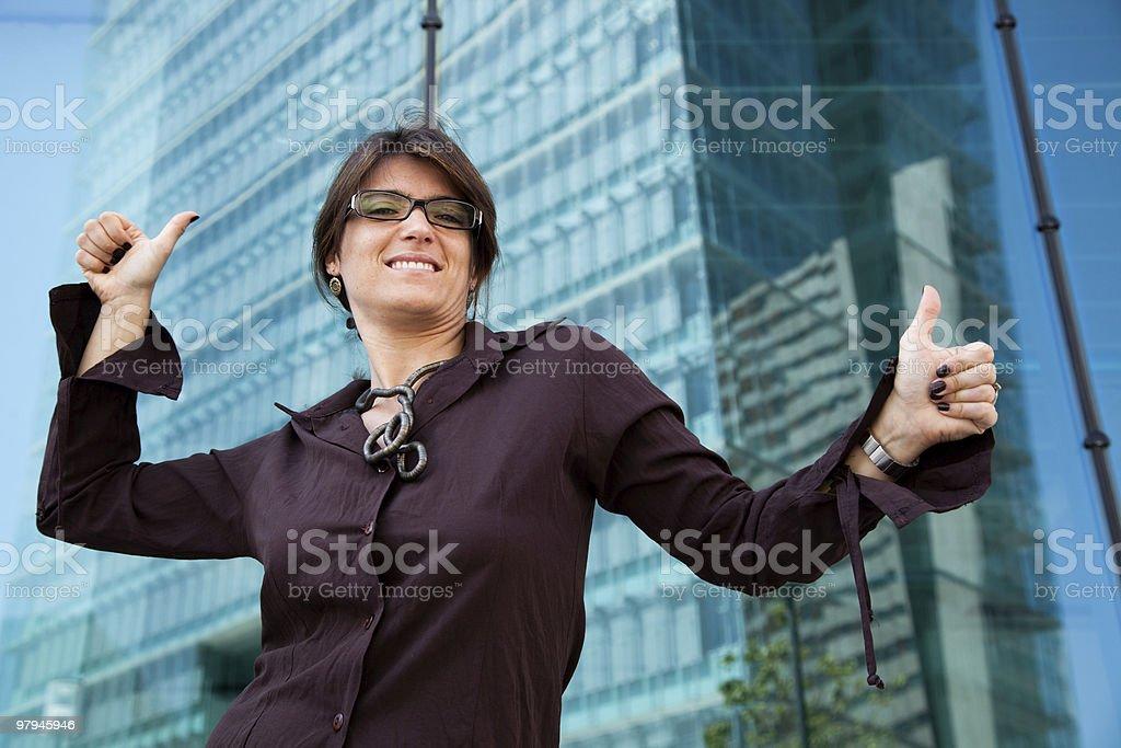 very happy businesswoman royalty-free stock photo