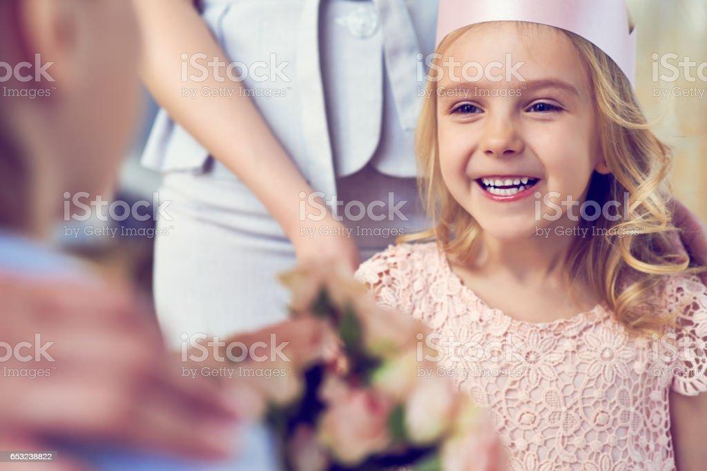 Very happy girl stock photo