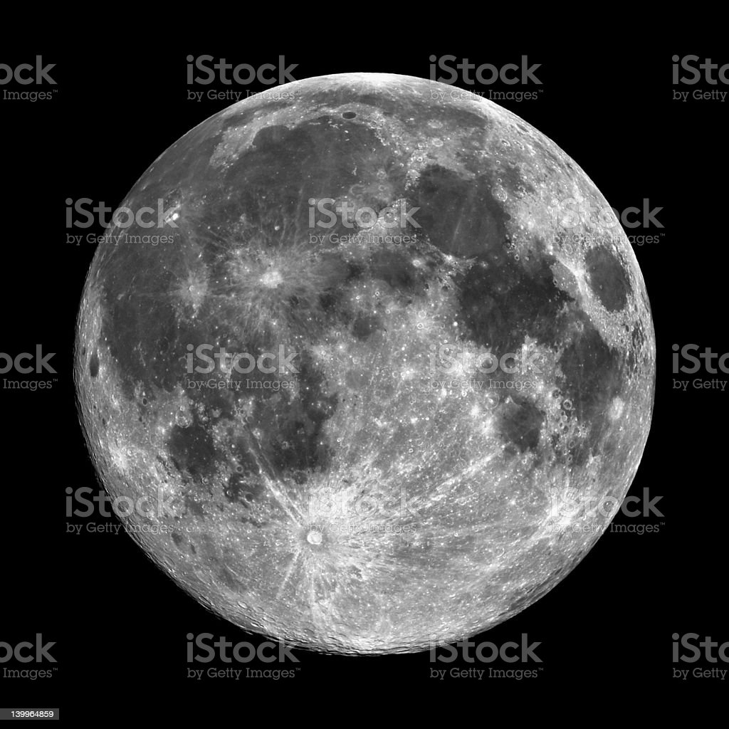 Very High Resolution Moon royalty-free stock photo