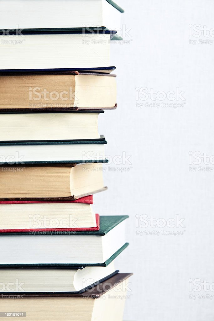 Very high stack of books royalty-free stock photo