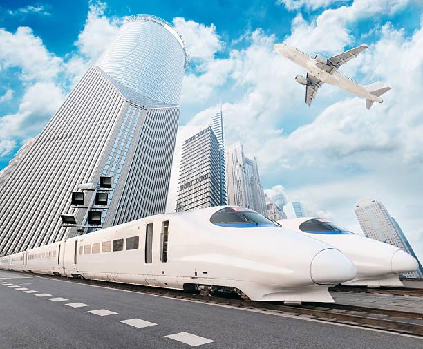 molto treno ad alta velocità - subway foto e immagini stock
