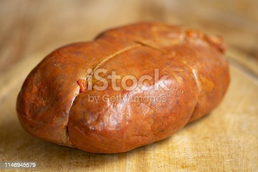 hot calabrian nduja a typical kind of spreadable salami
