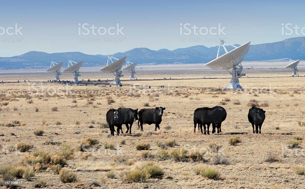 Very Large Array of Radio Telescopes in New Mexico, USA. royalty-free stock photo