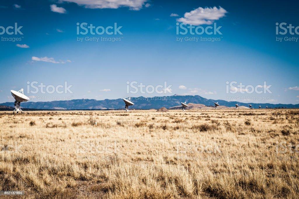 Very Large Array radio telescopes, New Mexico stock photo