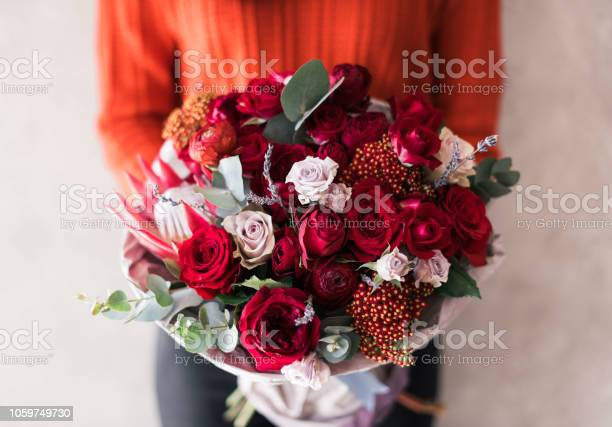 Very nice young woman in red sweater holding blossoming flower of picture id1059749730?b=1&k=6&m=1059749730&s=612x612&h=39aaz4yb6lxblieff8cmucn 1bkogpnr00ehadl zgq=