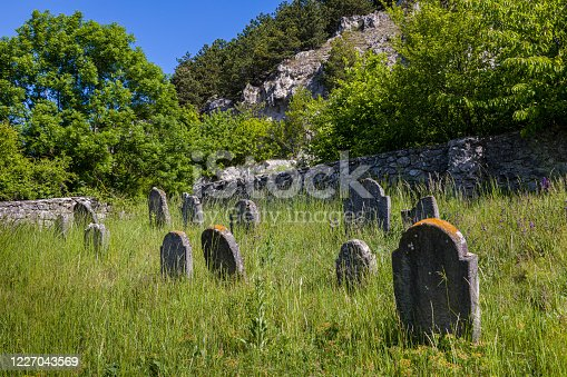 Very old abandoned Jewish cemetery near the village of Trstin, Slovakia