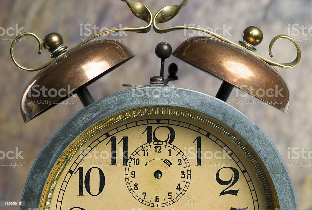 Very old alarm clock royalty-free stock photo