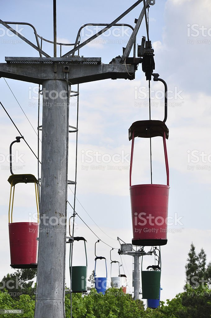 Very old cableway in Kharkov city, Ukraine royalty-free stock photo