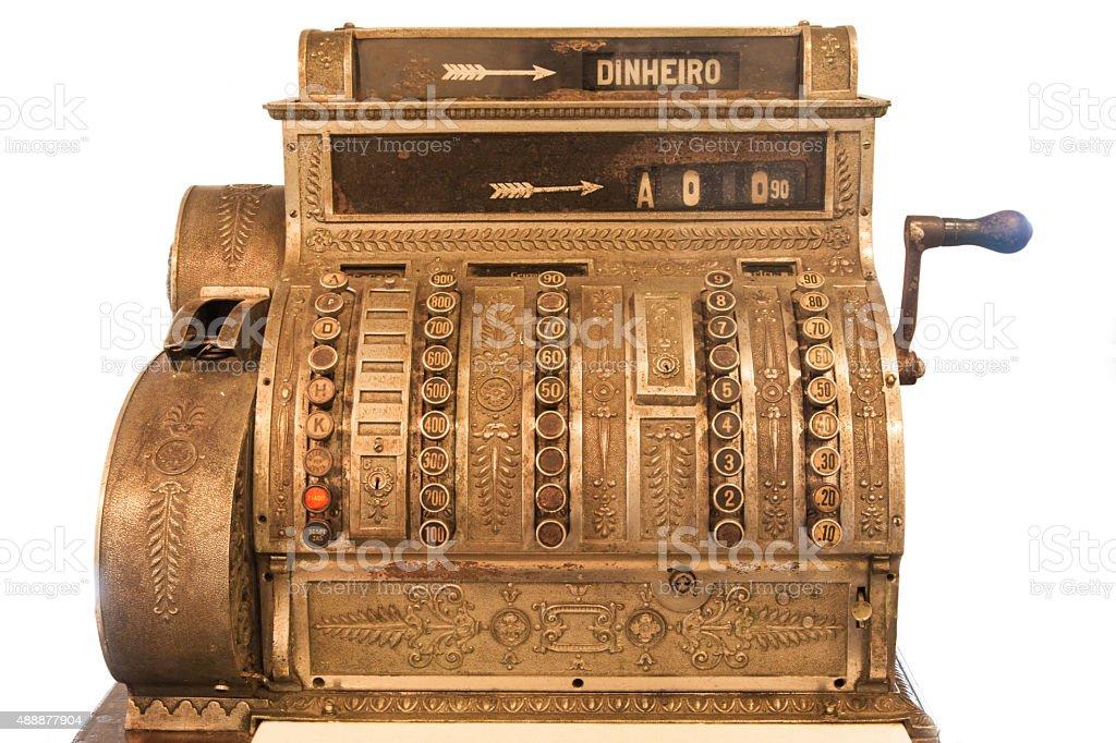 Muito antiga de caixa registradora - foto de acervo