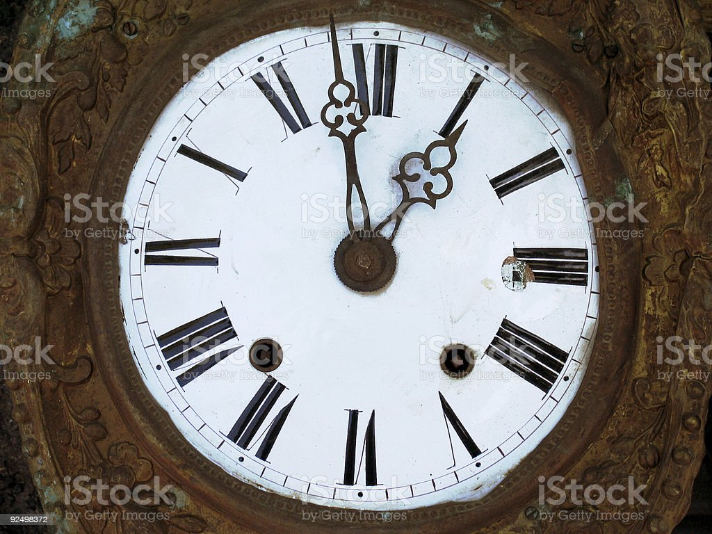 Very old clock royalty-free stock photo