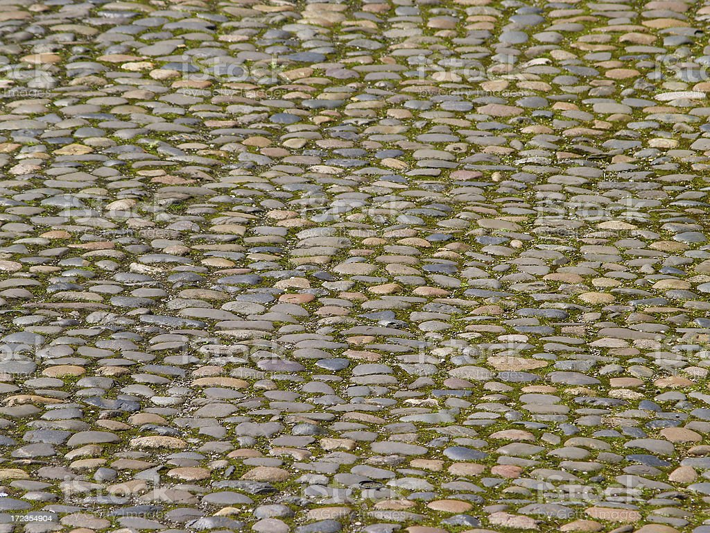 Muy antiguos coloridos, cobble stone street en Chester foto de stock libre de derechos