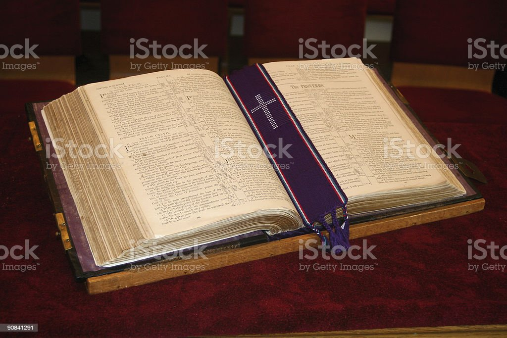 Very Old Holy Bible royalty-free stock photo