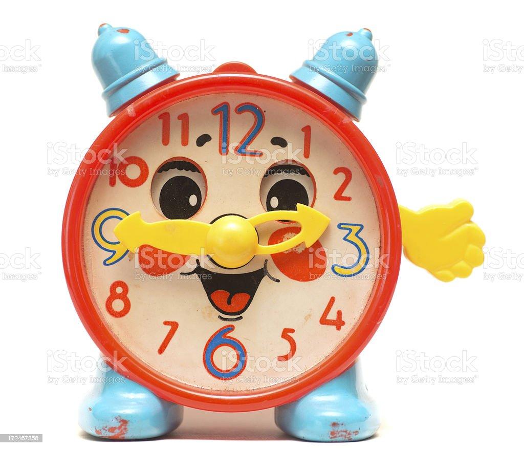 very old obsolete alarm clock stock photo