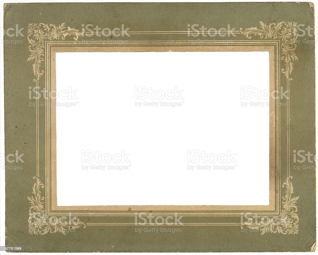 very old photo frame stock photo