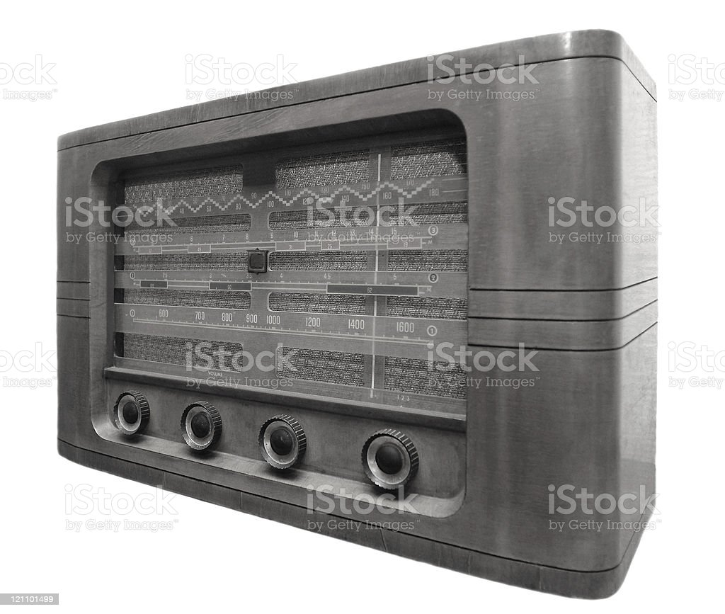 Very old radio royalty-free stock photo