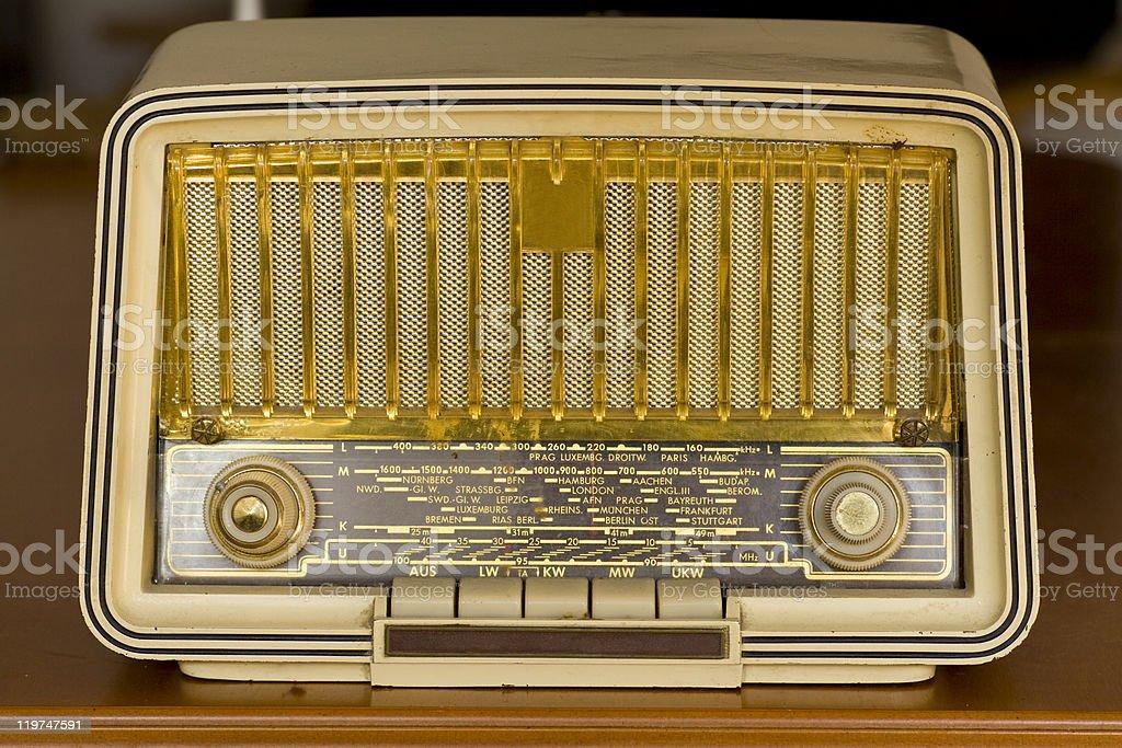 Very Old Radio. Vintage radio royalty-free stock photo
