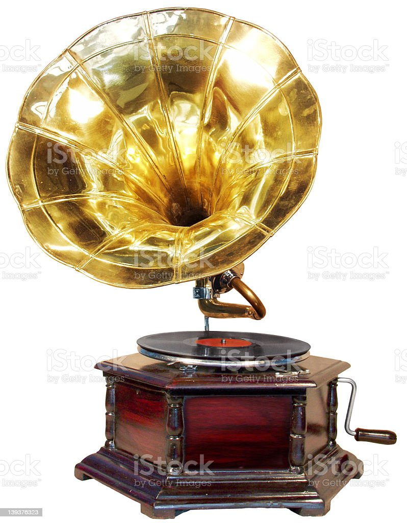 Very old record player royalty-free stock photo