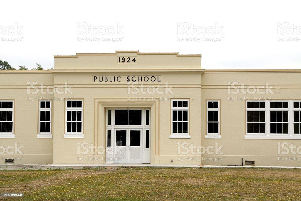 Very Old School Building stock photo