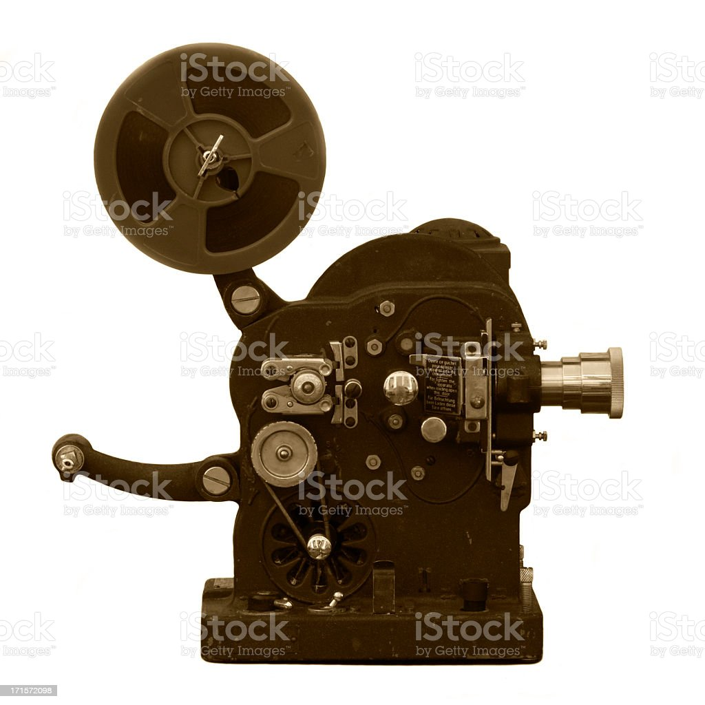Very old super 8 projector stock photo
