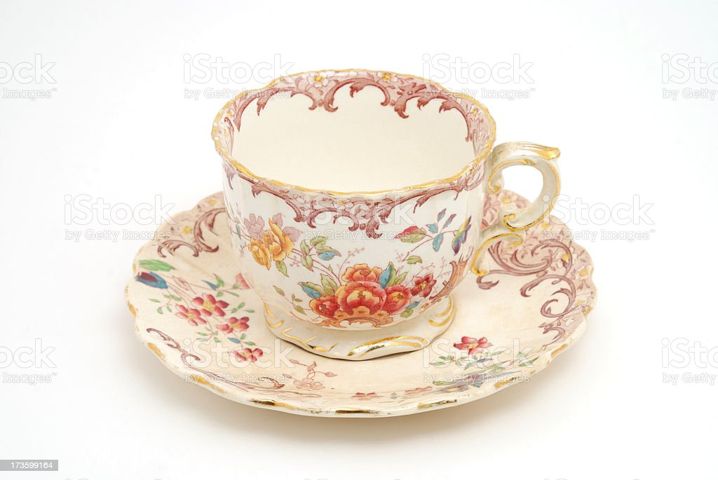 very old tea cup royalty-free stock photo
