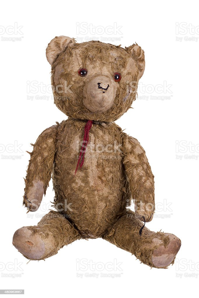 very old teddybear stock photo