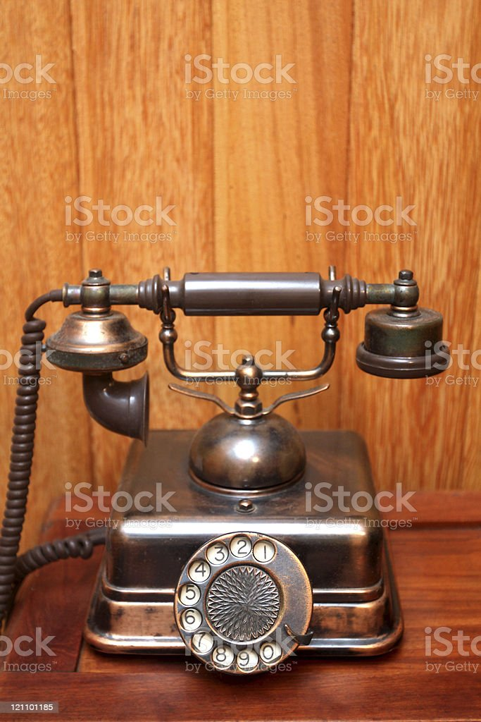 Very old telephone royalty-free stock photo