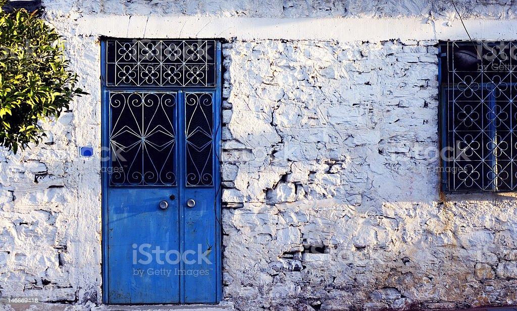 Very old Turkish village house royalty-free stock photo
