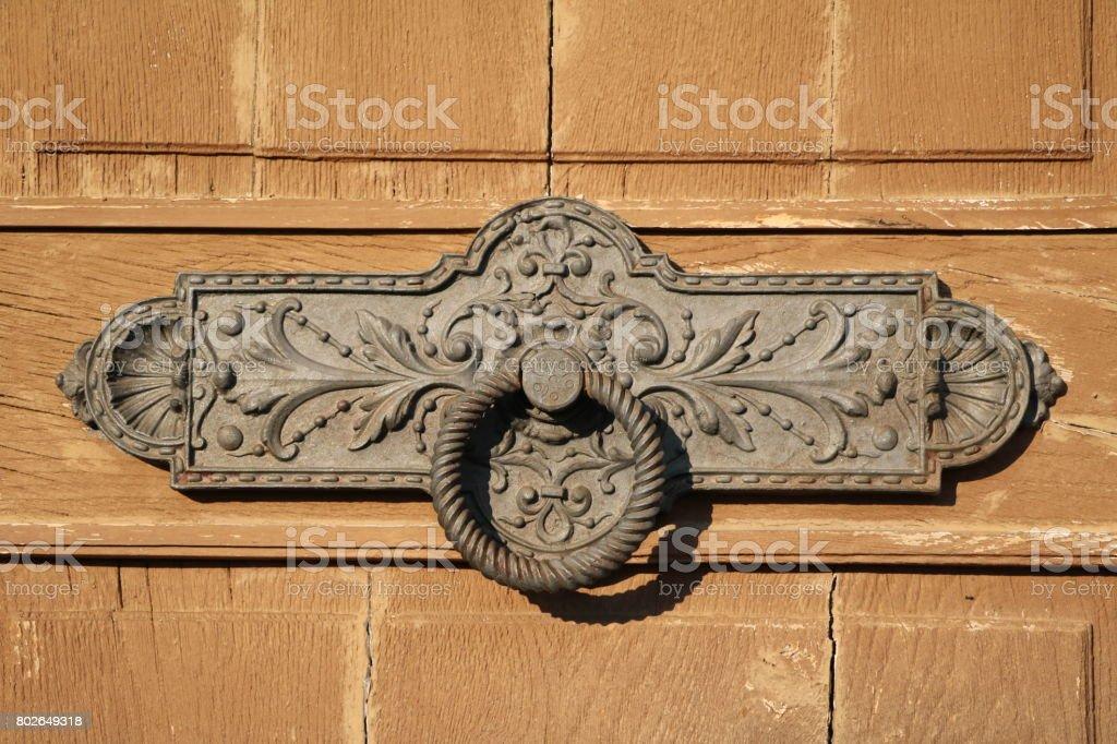 Very Old Vintage Italian Hand Door Knocker Royalty Free Stock Photo