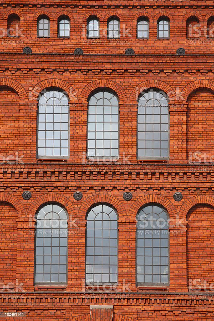 Very old windows in the luxury apartment royalty-free stock photo