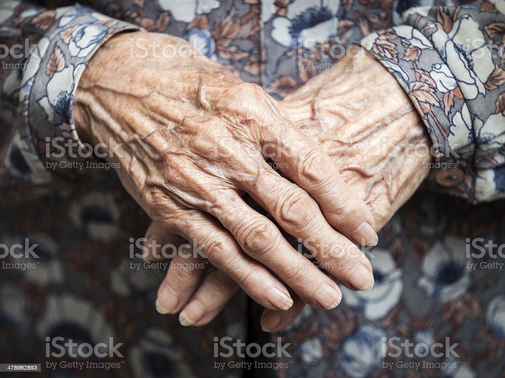 Sehr alte Frau Hände – Foto