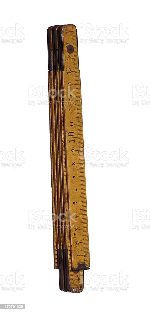 very old yardstick stock photo