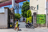Very popular Art Centrum LX Factory in Lisbon
