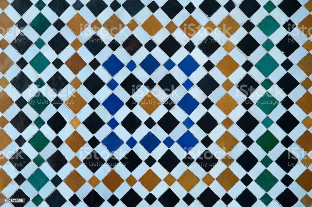 Very Popular Colorful Zellige Work Old Moroccan Symmetrical